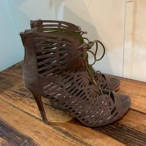 Just fab olive stiletto heels